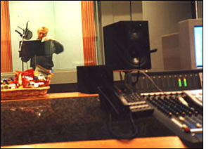 picture of Michael Knott in the recording studio, Michael Knott, known also as 1-800-the-voice, or 800-the-voice, or simply The Voice.